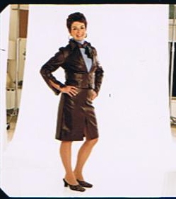 Weight Watchers Photo Shoot Fall 2003Seriously?...a Leather suit?!?