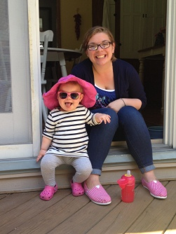 Fee and her Mama hanging out on the deck