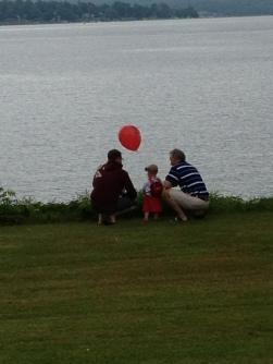Fee, Daddy and Poppa looking at Lake Chautauqua