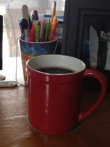 Coffee cup, desk, Starbucks