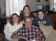 Granddaughters, Grandpa, Family photo