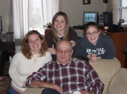 Granddaughters, Grandpa, Family photo