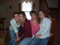family, thanksgiving, mother and daughters
