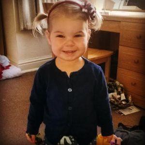 Pigtails, granddaughter, toddler, happy, little girl