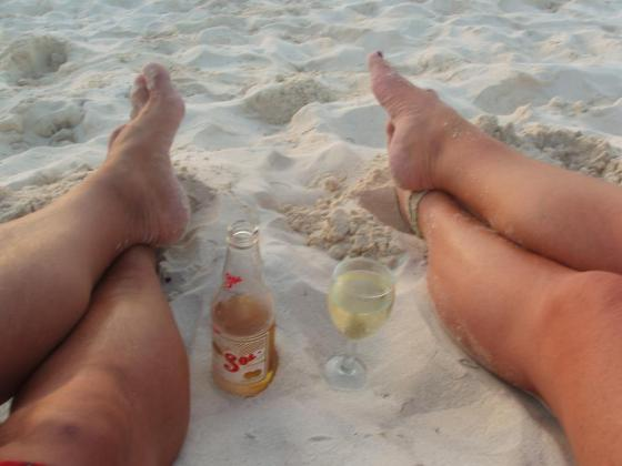 Feet, sand, Mexico, Beer, Beach