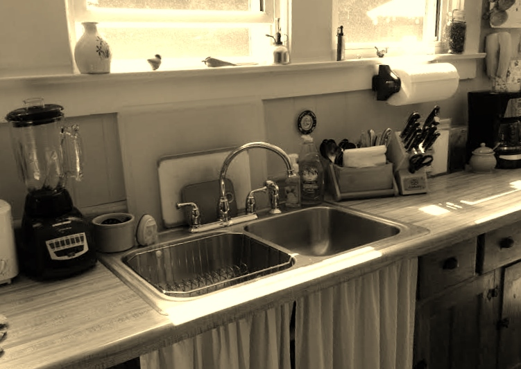 sink, kitchen sink, country kitchen, dishes, doing dishes, chores