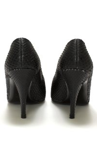 Black Snakeskin Pumps, shoes, high heels, pumps